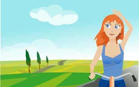 момиче с колело